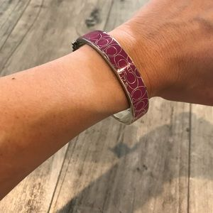 Coach Silver and Pink Bangle